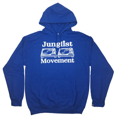 Junglist Movement Hoodie (Royal Blue) - Unearthed Sounds