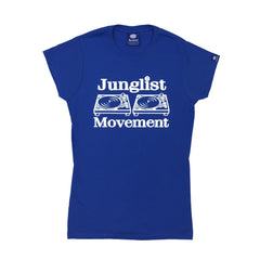 "Womens ""Junglist Movement"" T-Shirt (Navy Blue)"