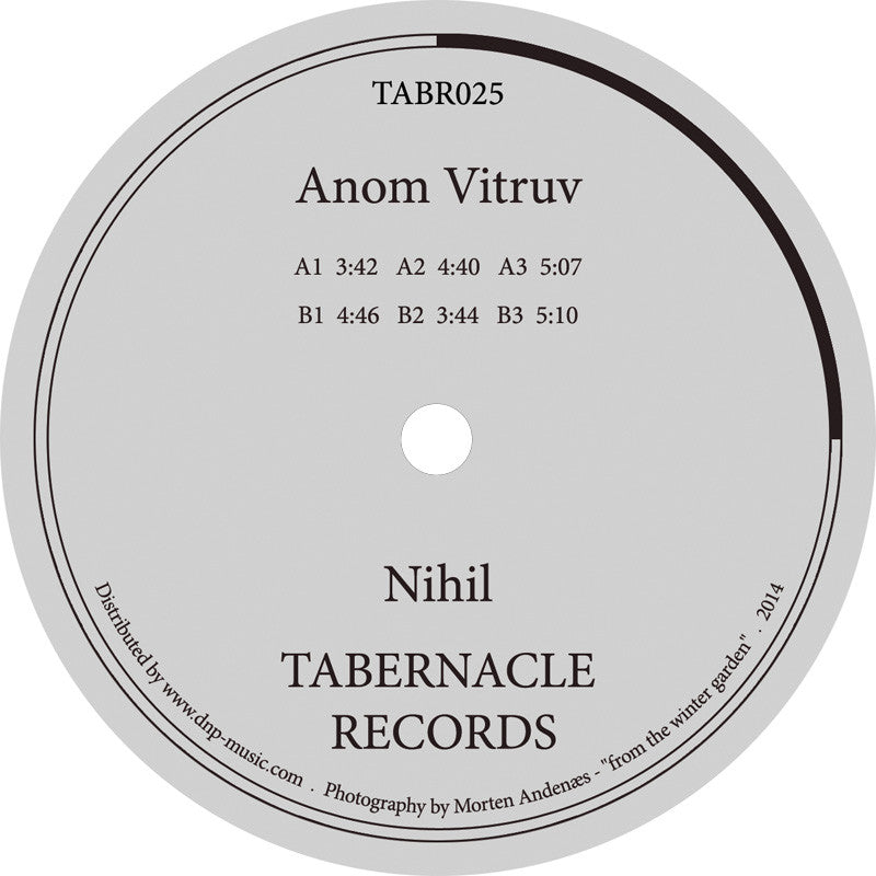 Anom Vitruv - Nihil - Unearthed Sounds