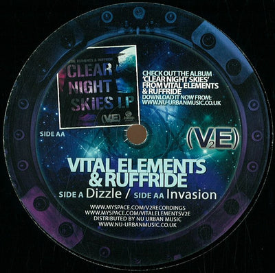 Vital Elements and Ruffride - Dizzle / Invasion - Unearthed Sounds