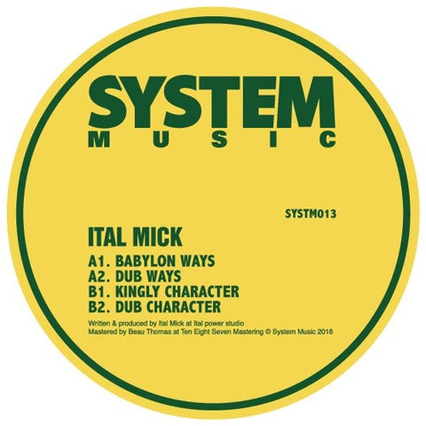 Ital Mick - SYSTM013