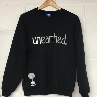 Unearthed x Aerosoul (Black) Collaboration Heavy Blend Sweatshirt - Unearthed Sounds