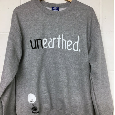 Unearthed x Aerosoul (Grey) Collaboration Heavy Blend Sweatshirt - Unearthed Sounds