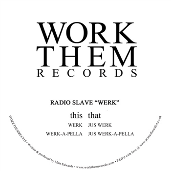 Radio Slave - Werk - Unearthed Sounds