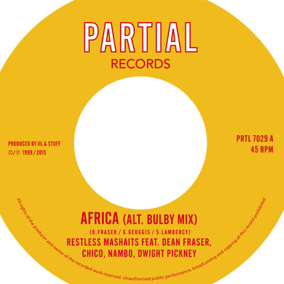 Restless Mashaits - Africa (Alt. Bulby Mix) / African Dubwise (Alt. Bravo Mix) - Unearthed Sounds