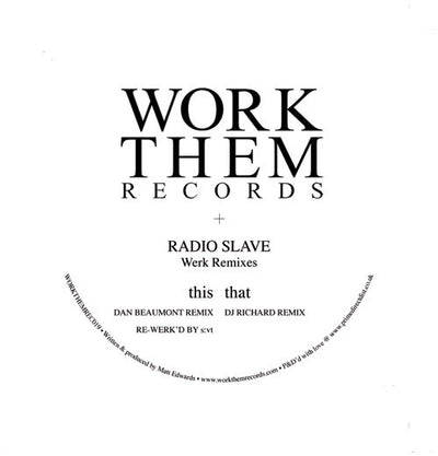 Radio Slave - Werk Remixes - Unearthed Sounds