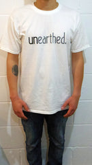 Unearthed Logo White T-Shirt , T-Shirt - Unearthed Sounds, Unearthed Sounds - 5