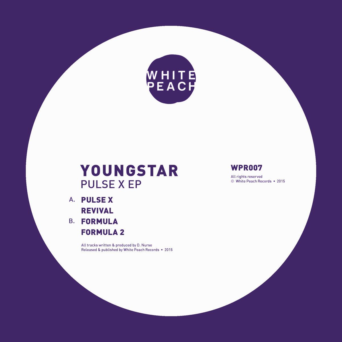 Youngstar - Pulse X , Vinyl - White Peach, Unearthed Sounds