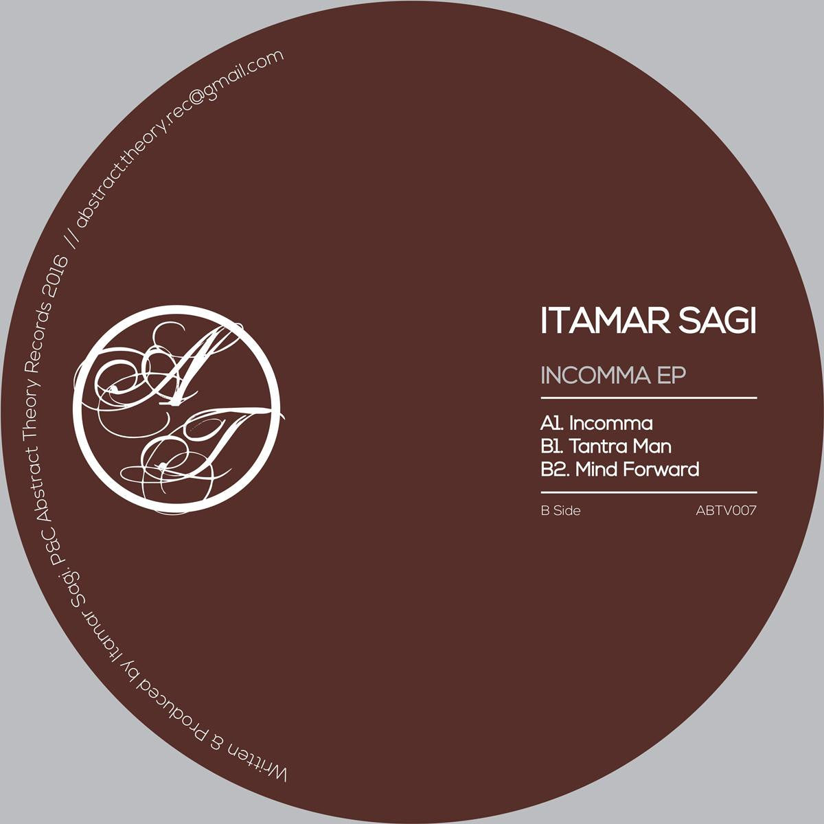Itamar Sagi - Incomma , Vinyl - Abstract Theory, Unearthed Sounds