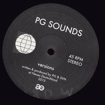 PG Sounds - Versions - Unearthed Sounds, Vinyl, Record Store, Vinyl Records