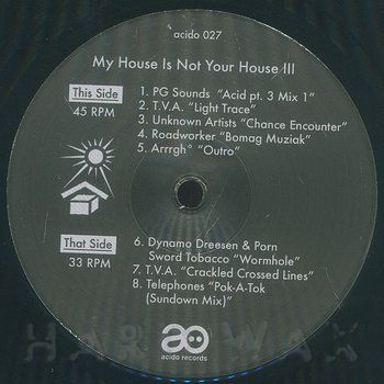 Various Artists - My House Is Not Your House III [Repress] - Unearthed Sounds, Vinyl, Record Store, Vinyl Records