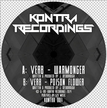 Verb - Warmonger/ Poison Flower , Vinyl - Kontra Recordings, Unearthed Sounds