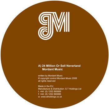 Mordant Music / Vindicatrix - 24 Million Or Sell Neverland - Unearthed Sounds