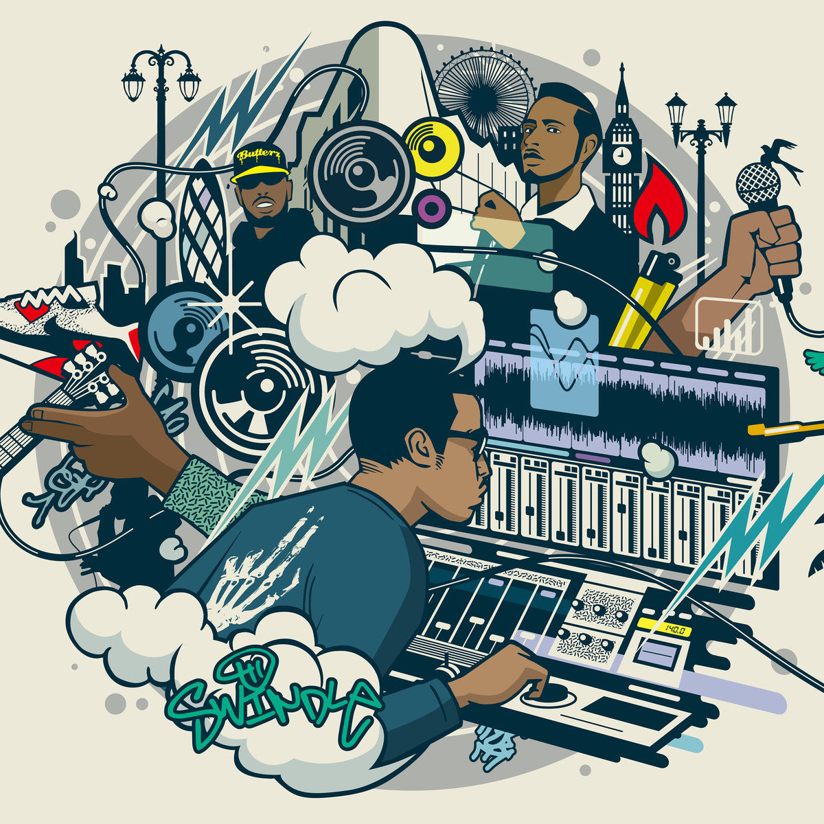 Swindle - Grime and Funk EP , Vinyl - Butterz, Unearthed Sounds