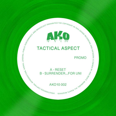 "Tactical Aspect - AKO10002 [Coloured 10"" Vinyl] - Unearthed Sounds"