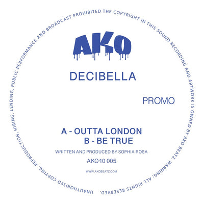 "AKO10 Series Presents: Decibella [Limited 10"" Blue Sparkle Vinyl] - Unearthed Sounds"