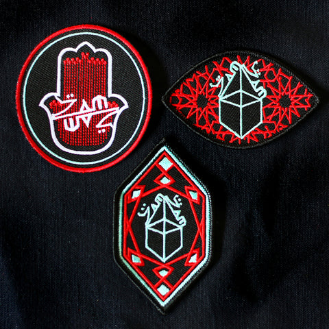 Zam Zam Sounds - Set of 3 Iron on Patches