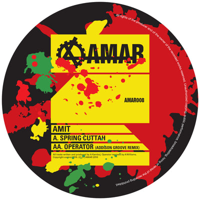 "Amit - Spring Cuttah / Operator (Addison Groove Remix) [Ltd 10"" Vinyl] - Unearthed Sounds"