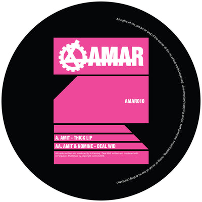 "AMIT / Nomine - Thick Lip / Deal Wid [10"" Vinyl] , Vinyl - AMAR records, Unearthed Sounds"