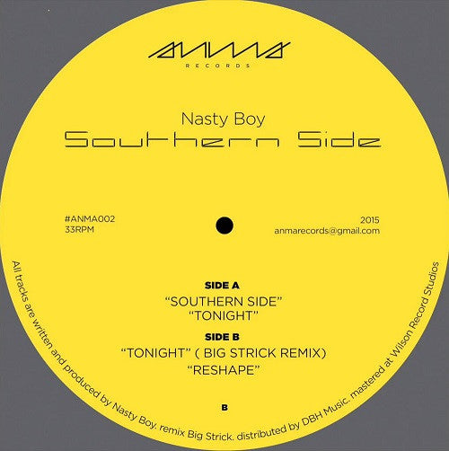 Nasty Boy - Southern Side , Vinyl - Anma, Unearthed Sounds