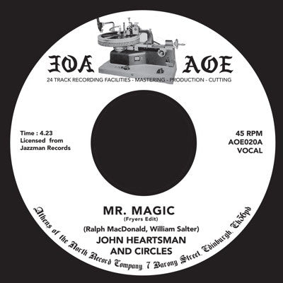"John Heartsman & Circles - Mr Magic [7"" Vinyl] , Vinyl - AOE, Unearthed Sounds"