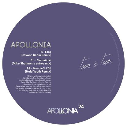 Apollonia - Remixes by Jovonn, M. Shannon, Hold Youth