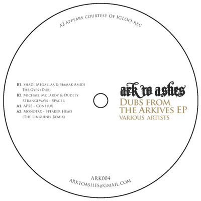 Various Artists - Dubs from the Arkives , Vinyl - Ark To Ashes, Unearthed Sounds