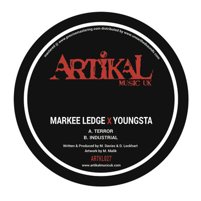 Markee Ledge & Youngsta - Terror / Industrial [Repress] - Unearthed Sounds