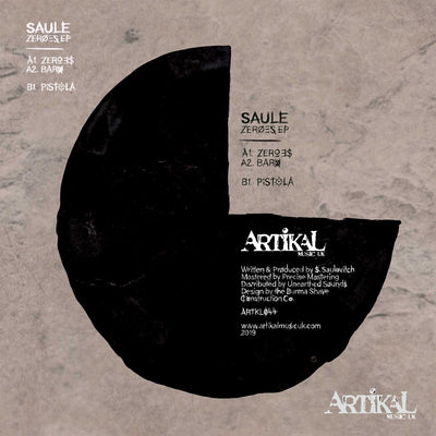 Saule - Zeroes EP - Unearthed Sounds