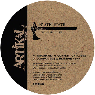 Mystic State - Tomahawk EP - Unearthed Sounds