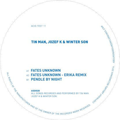 "Tin Man, Jozef K & Winter Son w/ Erika remix - Acid test 11 (12"" Vinyl + MP3) , Vinyl - Acid test, Unearthed Sounds"