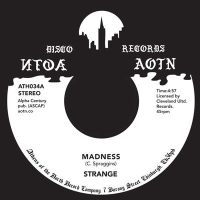 "Strange - Madness [7"" Vinyl] , Vinyl - Athens Of The North, Unearthed Sounds"