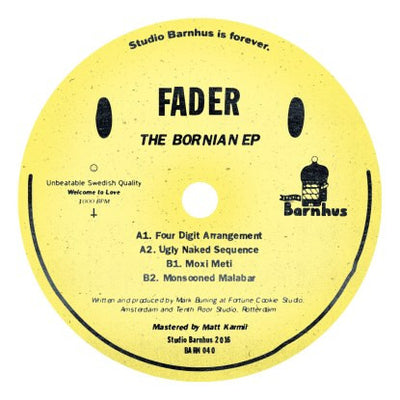 Fader - The Bornian EP (Vinyl Only Release) , Vinyl - Studio Barnhus, Unearthed Sounds