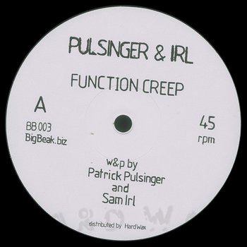Pulsinger & Irl ‎- Function Creep - Unearthed Sounds