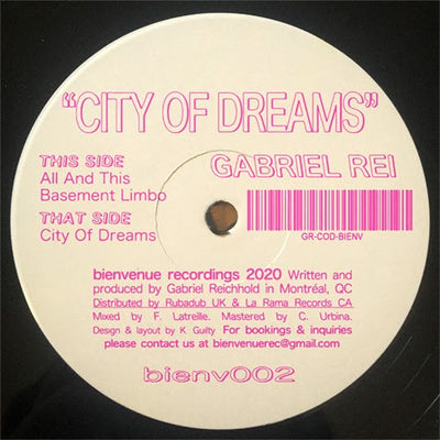 Gabriel Rei - City Of Dreams - Unearthed Sounds, Vinyl, Record Store, Vinyl Records