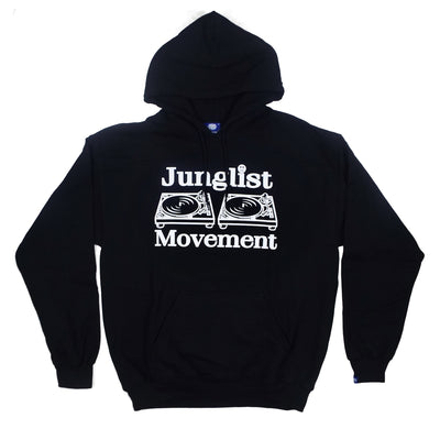Junglist Movement Hoodie (Black) - Unearthed Sounds
