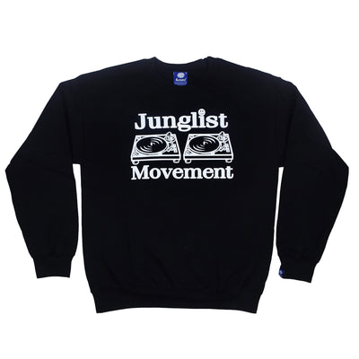 Junglist Movement Sweatshirt (Black) - Unearthed Sounds
