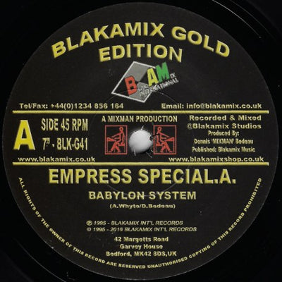 Empress Special A - Babylon System - Unearthed Sounds, Vinyl, Record Store, Vinyl Records
