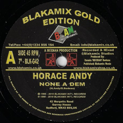 Horace Andy - None A Dem - Unearthed Sounds, Vinyl, Record Store, Vinyl Records