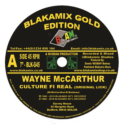 Wayne McCarthur - Culture Fi Real - Unearthed Sounds