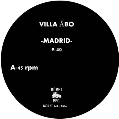 Villa Abo - Water Galaxy / Madrid , Vinyl - Borft, Unearthed Sounds