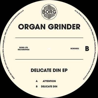 The Organ Grinder - Delicate Din E.P - Unearthed Sounds, Vinyl, Record Store, Vinyl Records