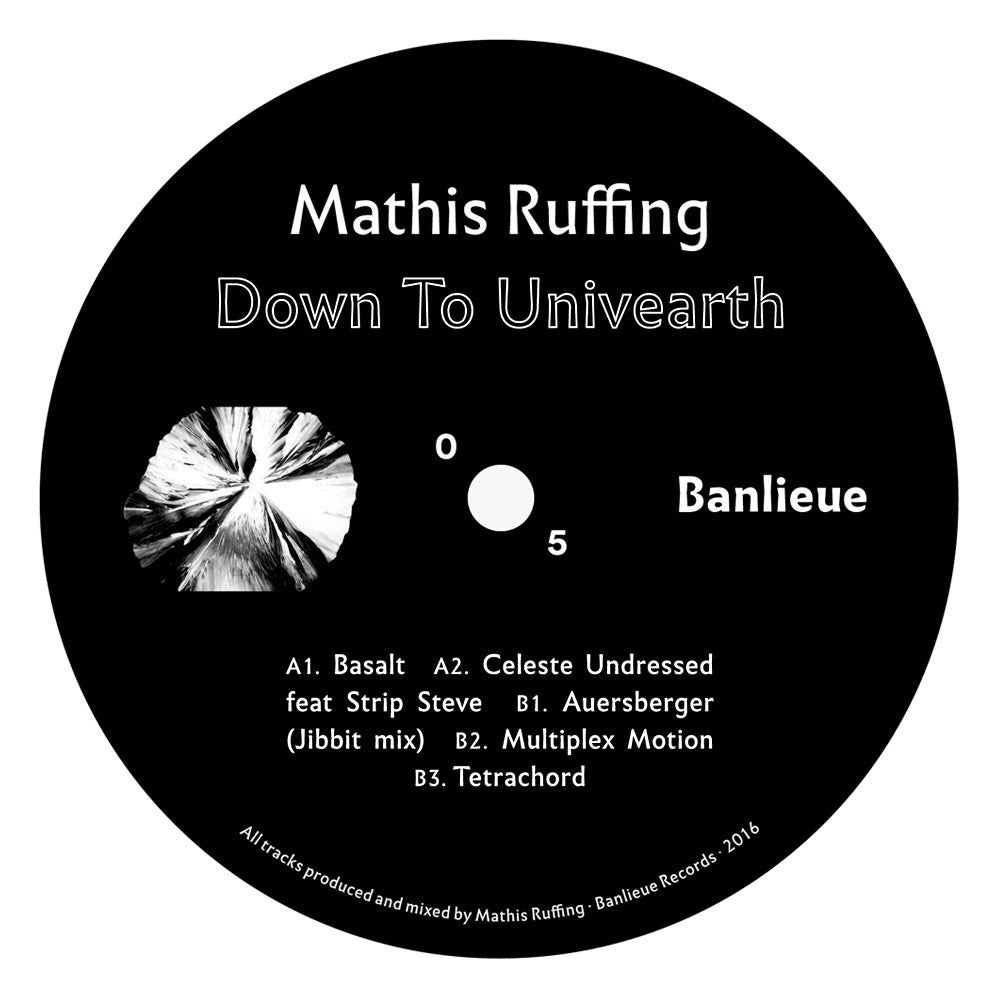 Mathis Ruffing - Down To Univearth EP , Vinyl - Banlieue Records, Unearthed Sounds