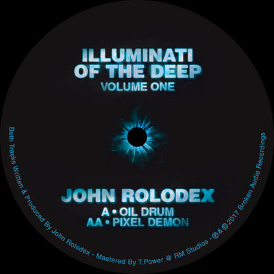 "John Rolodex - Illuminati of the Deep - Volume One [Ltd Edition 12"" Pale Glow Vinyl] - Unearthed Sounds"