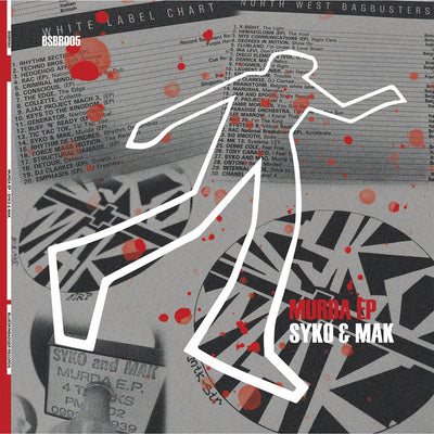 "Syko & Mak - Murda EP [12"" Blood Red Vinyl] - Unearthed Sounds, Vinyl, Record Store, Vinyl Records"