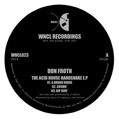 Don Froth - The Acid House Handshake EP - Unearthed Sounds