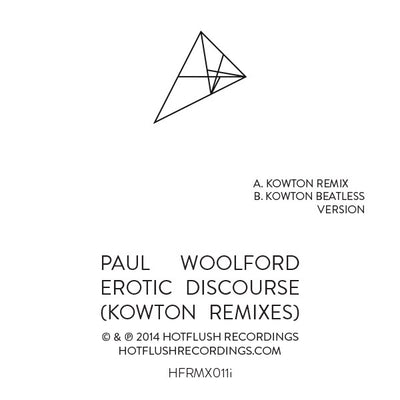 Paul Woolford - Erotic Discourse (Kowton Remixes) - Unearthed Sounds