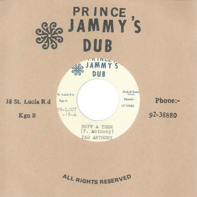 Pad Anthony & Prince Jammy's - Ruff a Them / Version , Vinyl - Dub Store Records, Unearthed Sounds