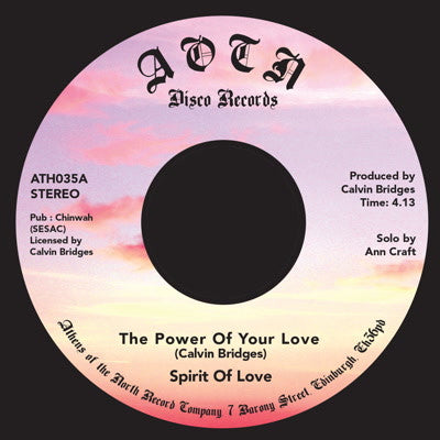 Spirit of Love - The Power of Your Love , Vinyl - Athens Of The North, Unearthed Sounds