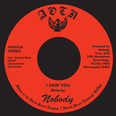 Nobody - I Saw You / Heaven's Love , Vinyl - Athens Of The North, Unearthed Sounds